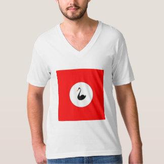 T-Shirt Black Swan on Red
