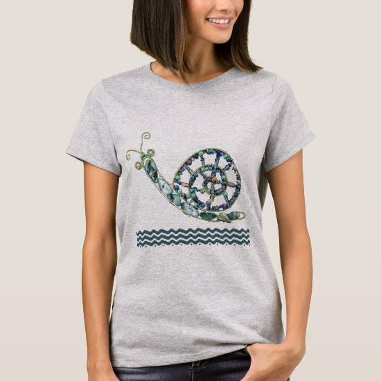 T-shirt - Blue Stone Snail
