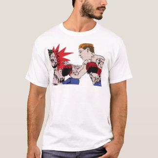 T-shirt - boxing match illustrates in raster