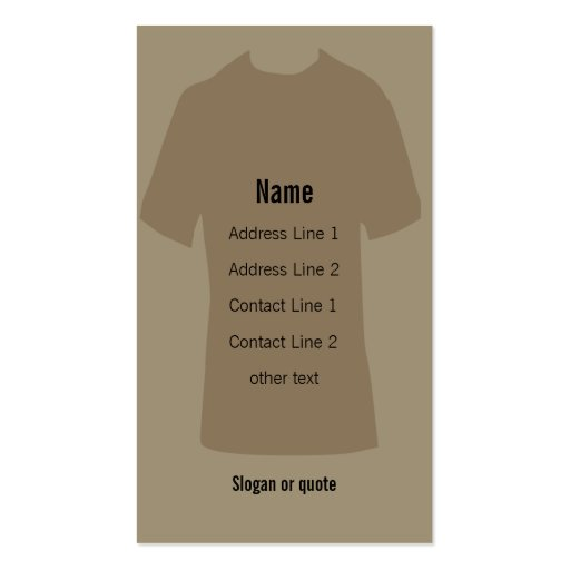 T shirt business card zazzle for Business cards for t shirt business