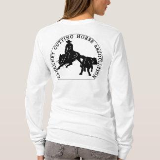 T-Shirt Cabernet CHA Femme Blanc Long Noir