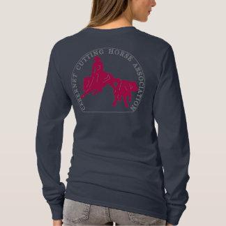 T-Shirt Cabernet CHA Femme Bleu Long Rose