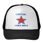 T shirt captain corn hole trucker hats