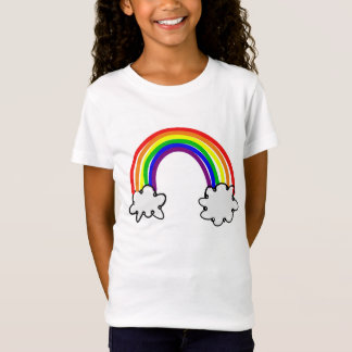 T-shirt childish joust feminine Rainbow cloud