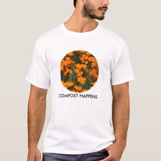 T-SHIRT CIRc # 4, , poppies COMPOST HAPPENS