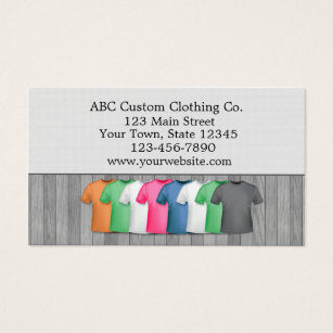 Clothing business cards templates zazzle t shirt clothing store business card colourmoves Images