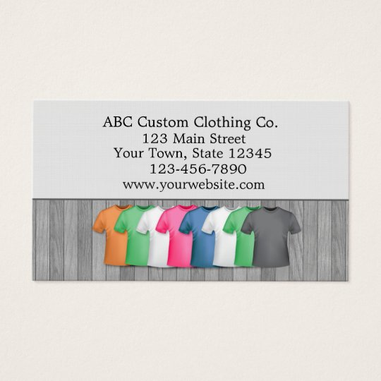 Stores business cards templates zazzle t shirt clothing store business card reheart Gallery