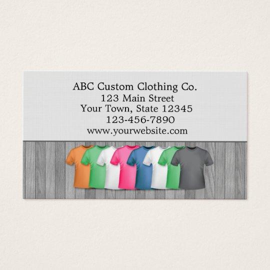 T-shirt Clothing Store Business Card | Zazzle.com