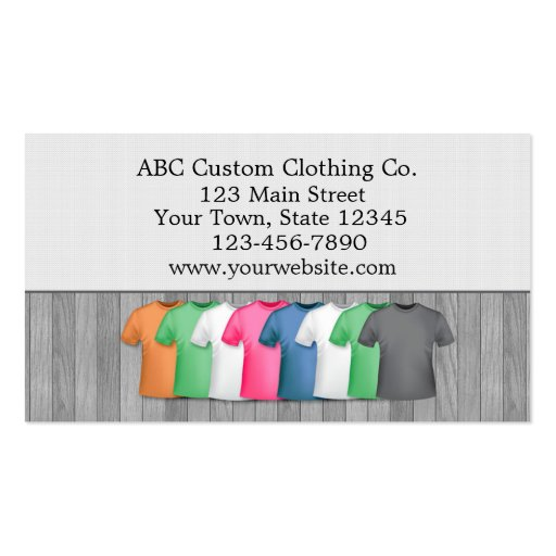 T shirt clothing store standard business card zazzle for Business cards for t shirt business