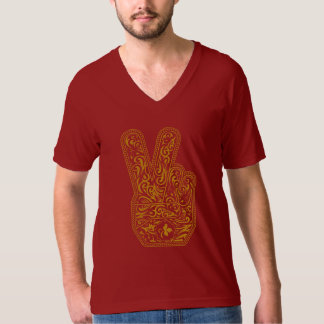 """T-shirt collar V """"Peace and love """""""