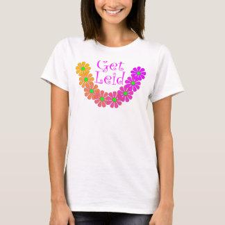 T-shirt Colorful Lei Luau Floral Hibiscus Retro