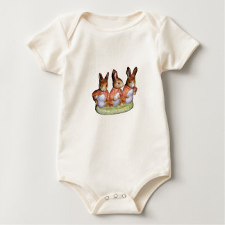 T-Shirt/Creeper - Flopsy, Mopsy & Cottontail Baby Bodysuit