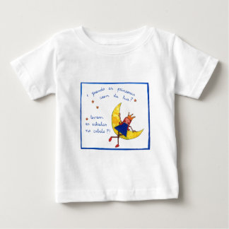 T-shirt criança E quando as princesas caem da lua?