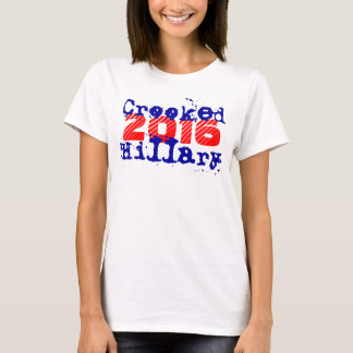 T-Shirt ~ Crooked Hillary 2016 Election President
