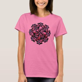 T-Shirt, Cute Flower, Pink, Blue T-Shirt