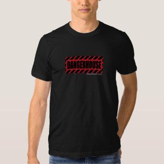 T-Shirt Dangerhouse Records RED Logo DARK SHIRT
