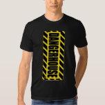 T-Shirt Dangerhouse Vertical YELLOW Logo DARK