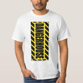 T-Shirt Dangerhouse Vertical YELLOW Logo WHITE