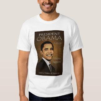 T-shirt de presidente Obama Grunge Tattered Playeras
