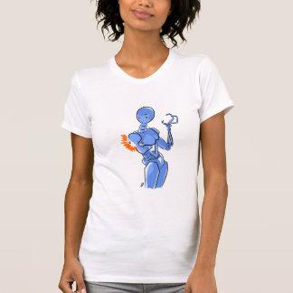 T-Shirt del malfuncionamiento del robot de señora Polera