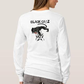 T-shirt Design Retro Cool Catz Black Cat Bowling
