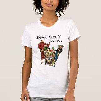 T-shirt Design Texting Driving Shopping cart Text