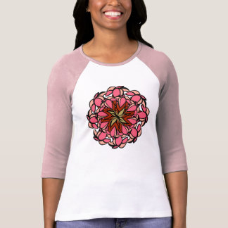 T-Shirt, Droopy Flower, Pink Red T-Shirt