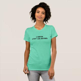 """t-shirt """"el infierno es el otro """" camisas"""