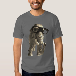 T-shirt Elephant With Glasses