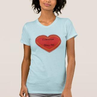 T-shirt - Exercise heart