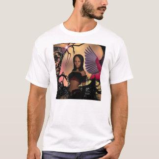 T-Shirt Fantasy Art Elf Girl Bird 8 - 10 yrs
