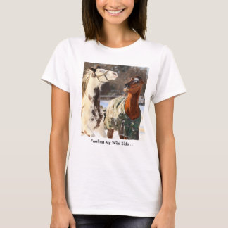 "T-shirt ""Feeling My Wild Side"" Horse design"