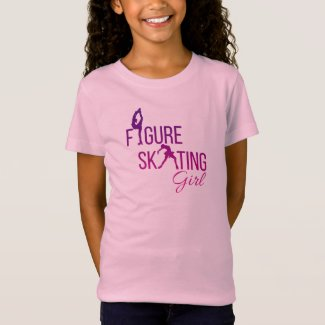 T-shirt Figure skating girl Purple Pink