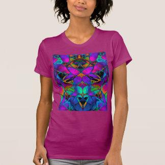 T-Shirt Floral Fractal Art