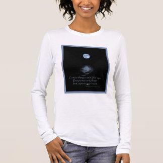 T_SHIRT, Full Moon with Native American saying Long Sleeve T-Shirt