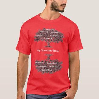 T-shirt - Genealogy tree/dark