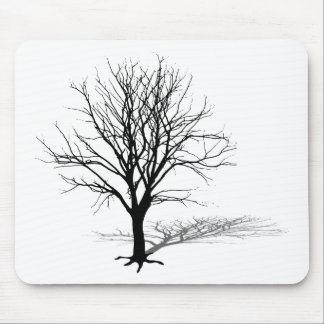 t-shirt gift tree silhouette winter shadow baum mouse pad