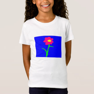 t-shirt girls bright colors flower