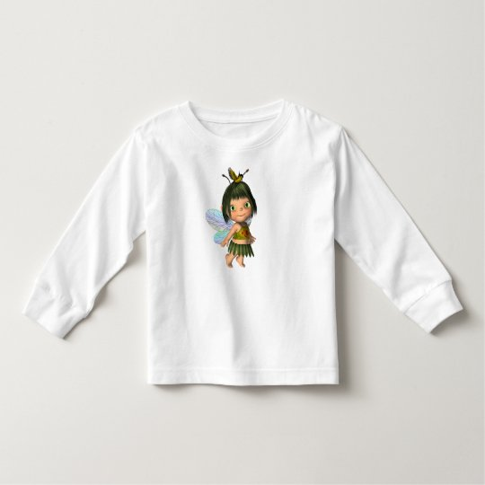T-Shirt Girls Little Fairy Girl Bird