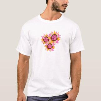 T-Shirt Girls Pink Sunshine Flower
