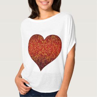T-Shirt Glitter Graphic Heart Red