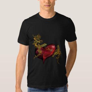T-Shirt, Gold and Heart T-Shirt