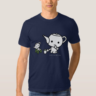 T-shirt - GreenTea with a stuffed GreenTea