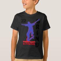 t shirt grind skateboarding