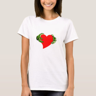 T-Shirt ~ Heart Held out in Zombie Green Hands
