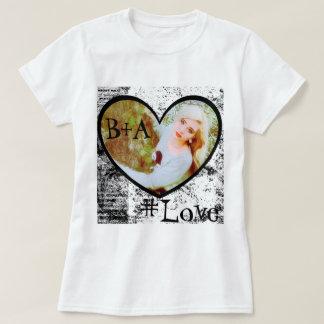 T-Shirt, Heart Shape Photo Insert T-Shirt