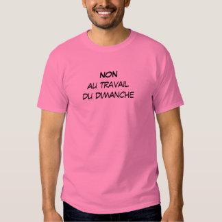 """t-shirt hombre """"no en el trabajo del domingo """" playeras"""