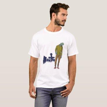 Beach Themed T-shirt I buzzed