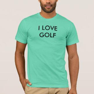 T-shirt I LOVE GOLF