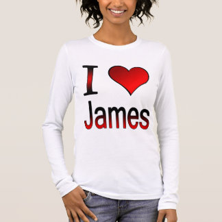 T-Shirt I love James simply red